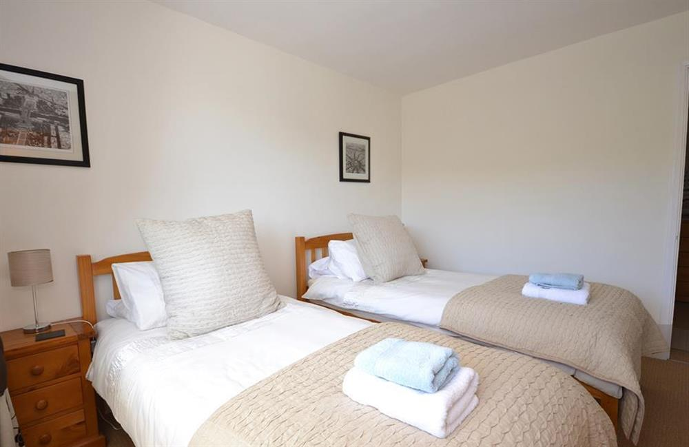 Another view of the comfortable twin room at Driftwood, Dartmouth