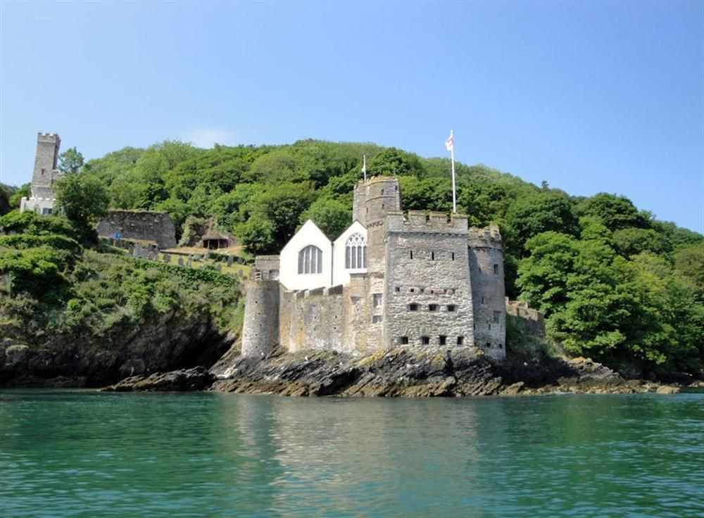 Dartmouth Castle guarding the mouth of the estuary at Driftwood, Dartmouth