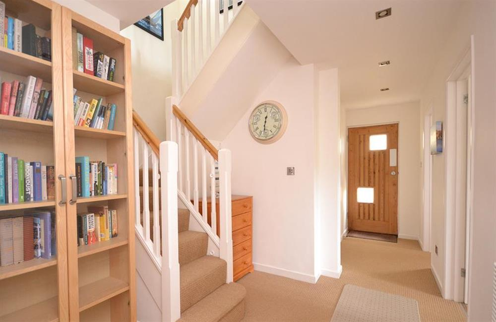 The lower landing with stairs leading up to the living areas at Driftwood, Dartmouth