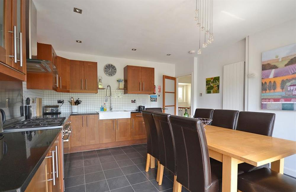 The modern kitchen with range oven, is very well equipped at Driftwood, Dartmouth