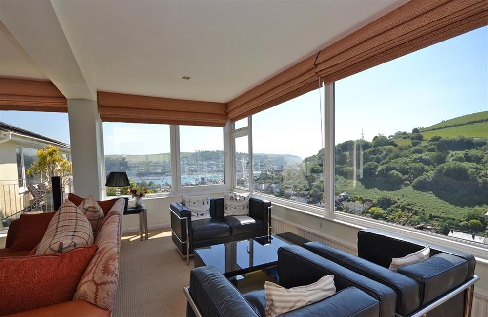 The viewing area of the living room at Driftwood, Dartmouth