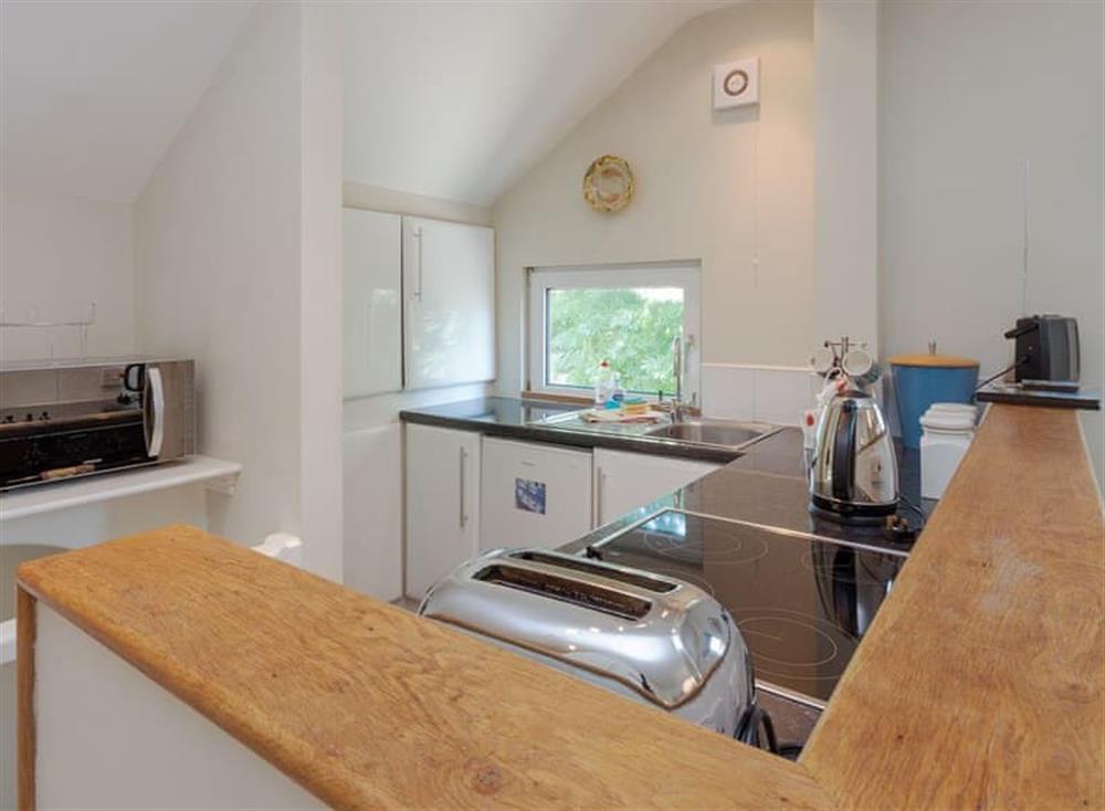 Kitchen area at Driftwood in Stoke Fleming, Devon