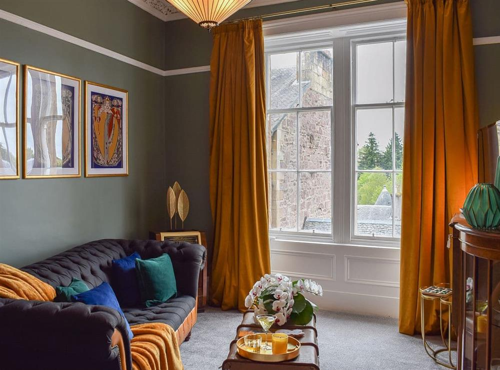 Living room at Dunblane Apartment in Dunblane, Stirling, Perthshire
