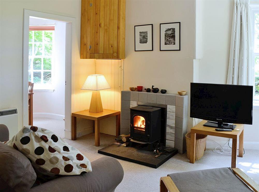 Comfortable and cosy living room at Dunlappie Lodge in Edzell, near Brechin, Angus