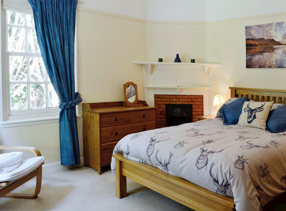 Comfortable and romantic bedroom at Dunlappie Lodge in Edzell, near Brechin, Angus