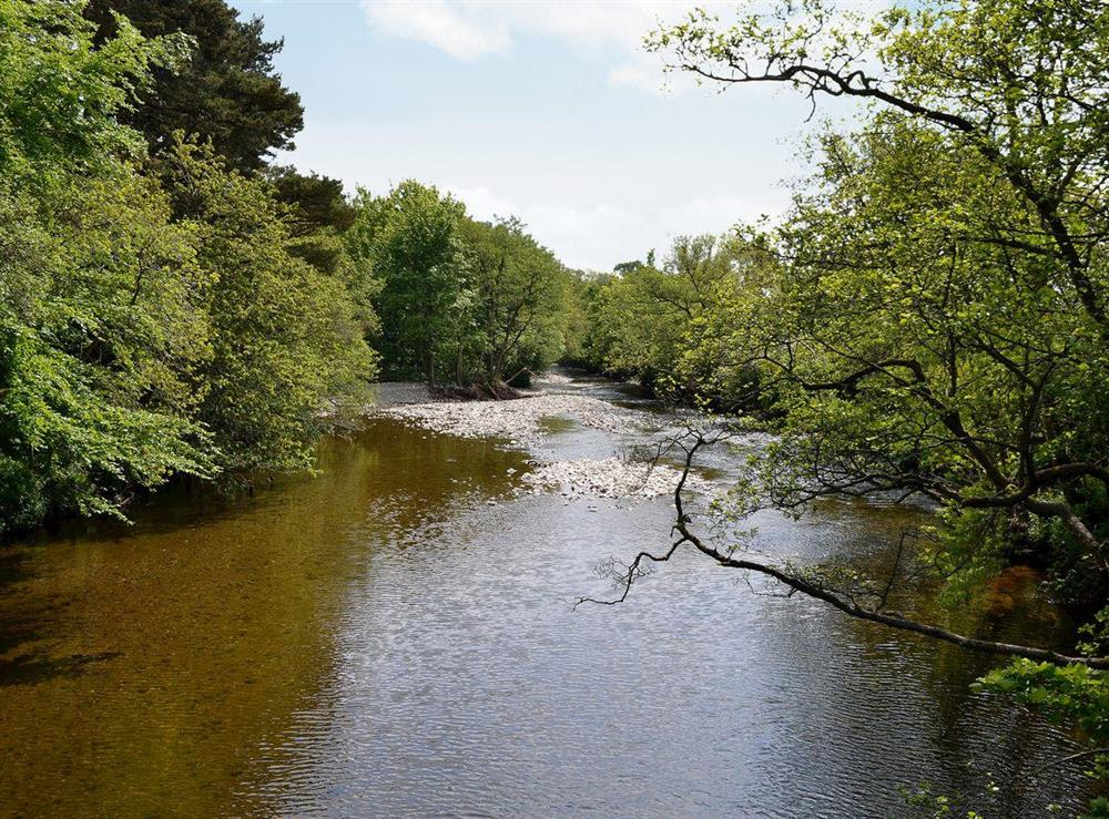 Nearby river at Dunlappie Lodge in Edzell, near Brechin, Angus