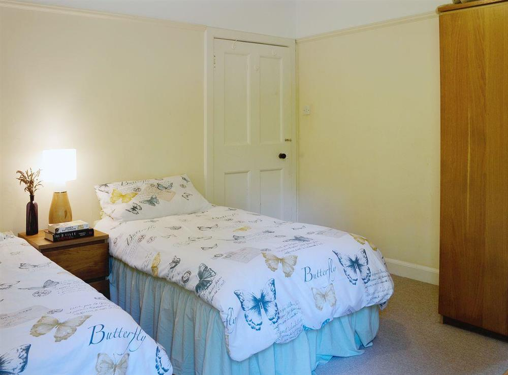Single bedded room with additional single pullout bed at Dunlappie Lodge in Edzell, near Brechin, Angus