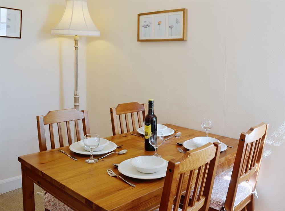 Stylish dining room at Dunlappie Lodge in Edzell, near Brechin, Angus