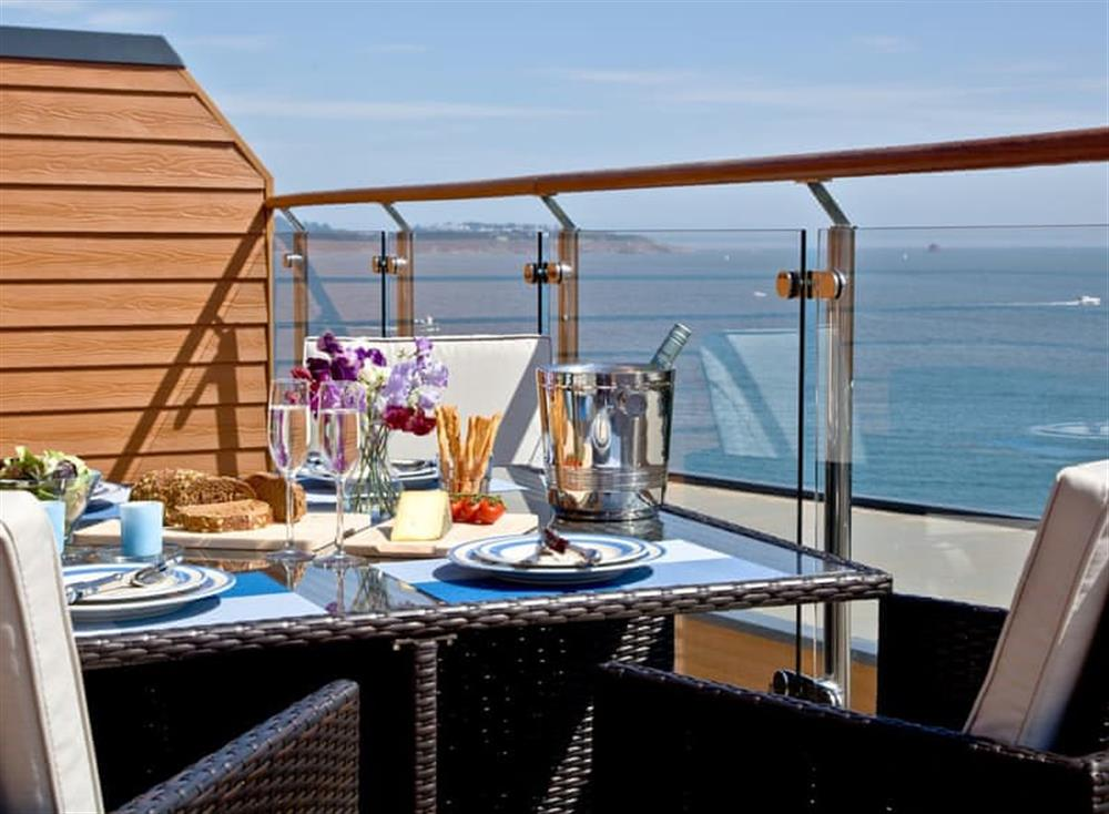 Balcony at Dunlin 4 in The Cove, Brixham