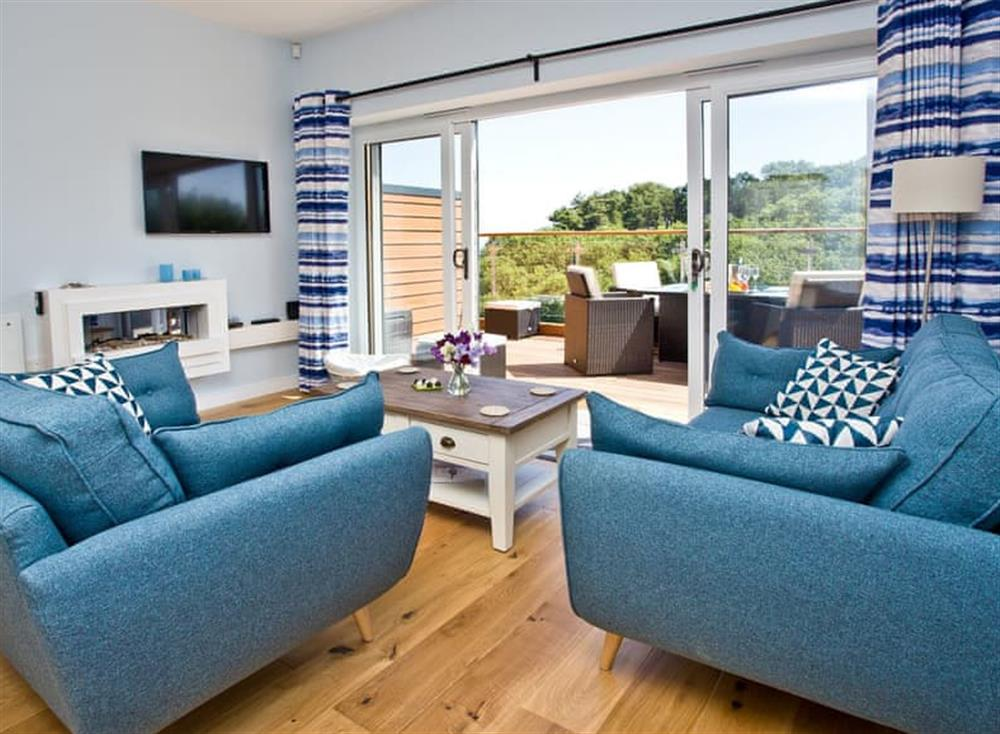Living area at Dunlin 4 in The Cove, Brixham