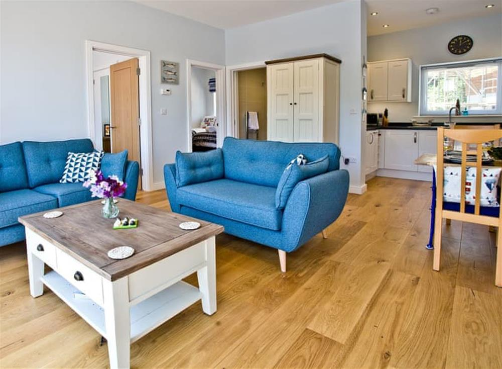 Open plan living space at Dunlin 4 in The Cove, Brixham