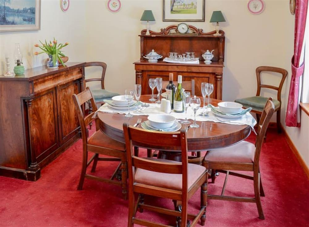 Formal dining area at Dunrobin in Lairg, near Sutherland, Highlands, Scotland