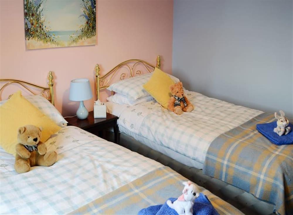 Twin bedroom at Dunrobin in Lairg, near Sutherland, Highlands, Scotland