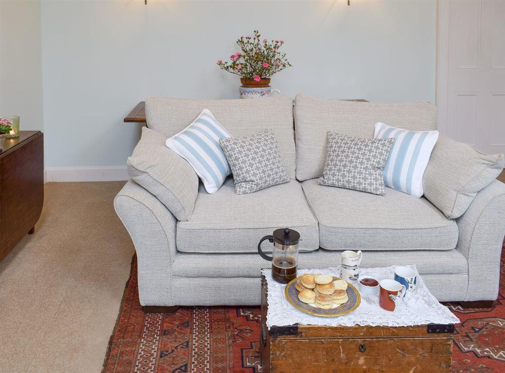 Comfortable living room at Easter Baldinnies in Dunning, near Perth, Perthshire