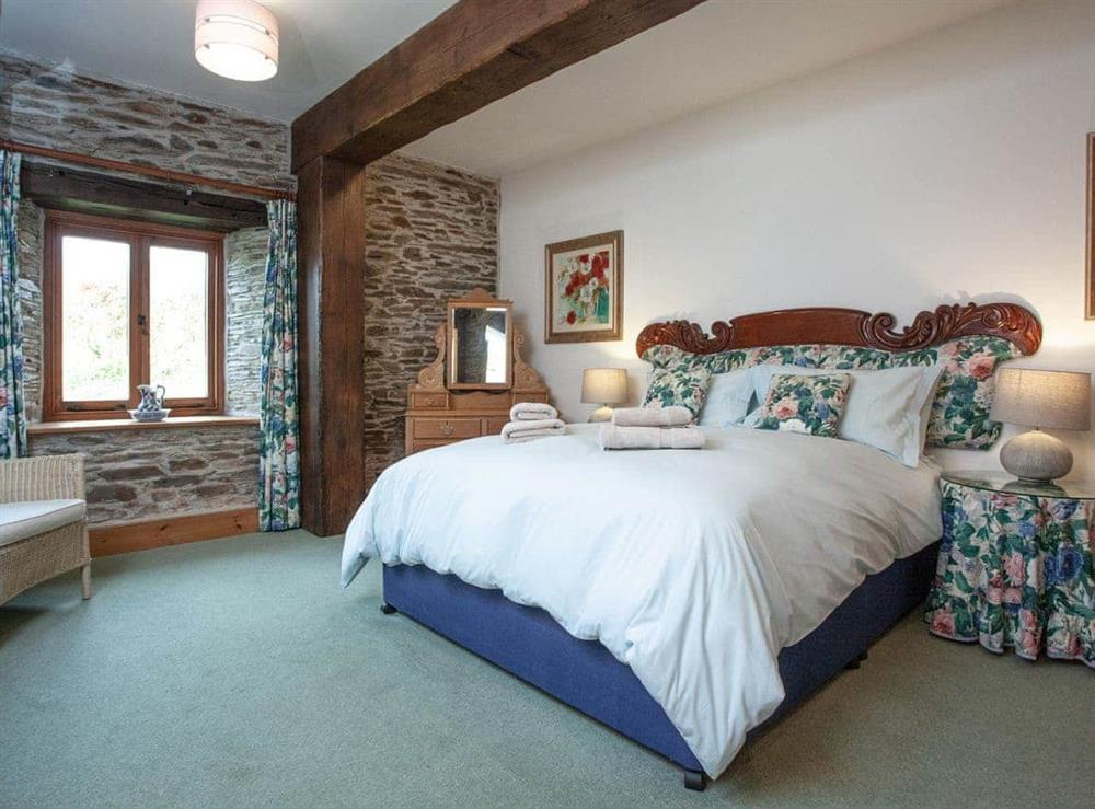 Double bedroom at Edgecombe Barn in Bow Creek, Nr Totnes, South Devon., Great Britain