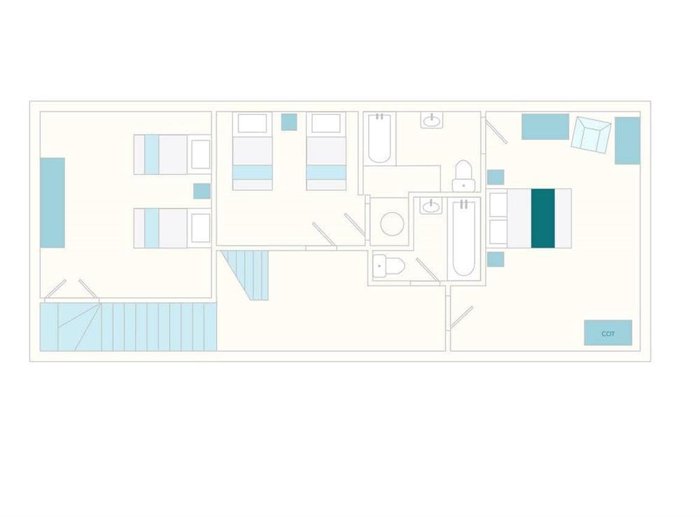 Edgecombe Barn Foor Plan - First Floor at Edgecombe Barn in Bow Creek, Nr Totnes, South Devon., Great Britain