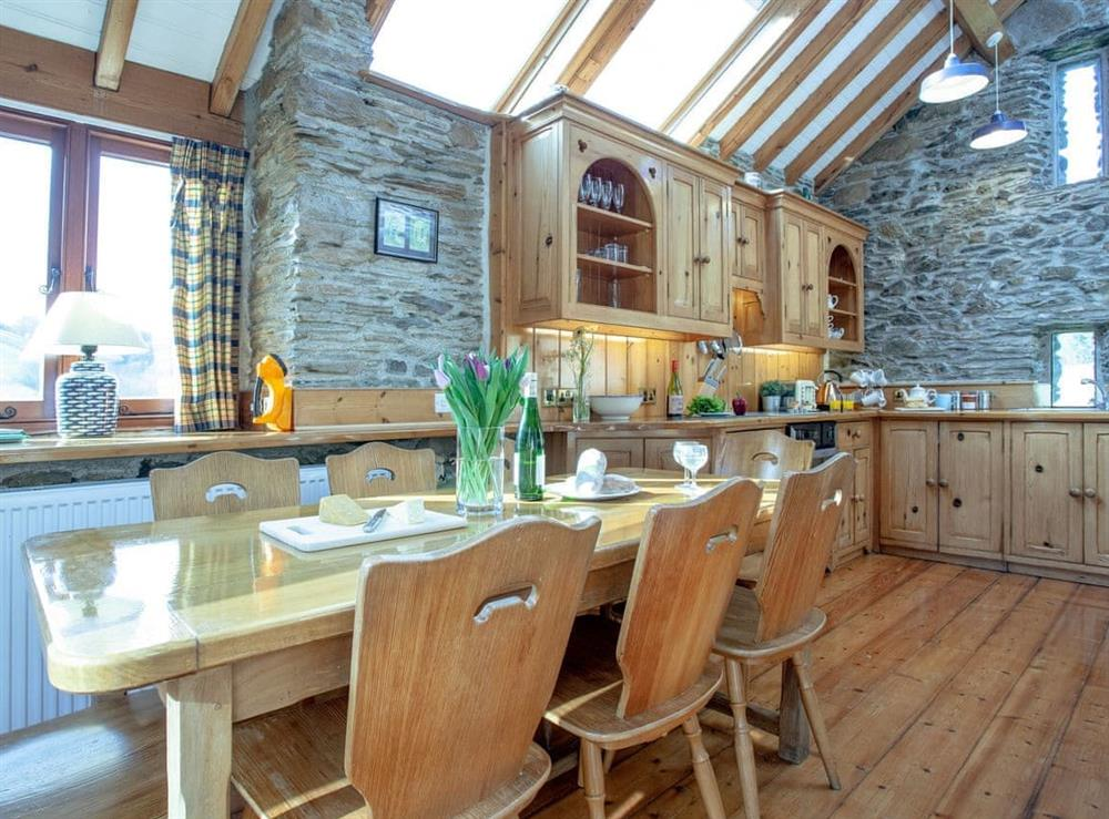 Kitchen/diner at Edgecombe Barn in Bow Creek, Nr Totnes, South Devon., Great Britain