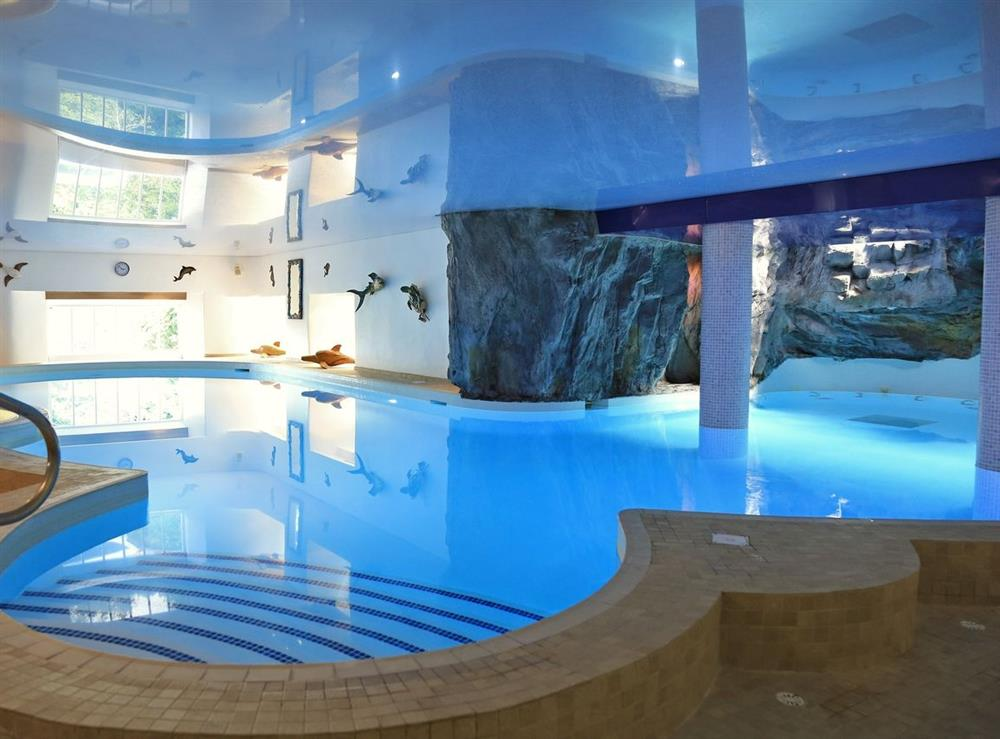 The Waterfall Pool at Edgecombe Barn in Bow Creek, Nr Totnes, South Devon., Great Britain