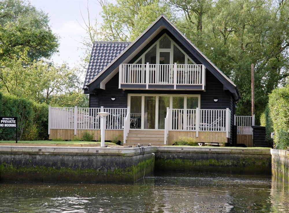Exterior from river at Edgewater in Norwich, Norfolk