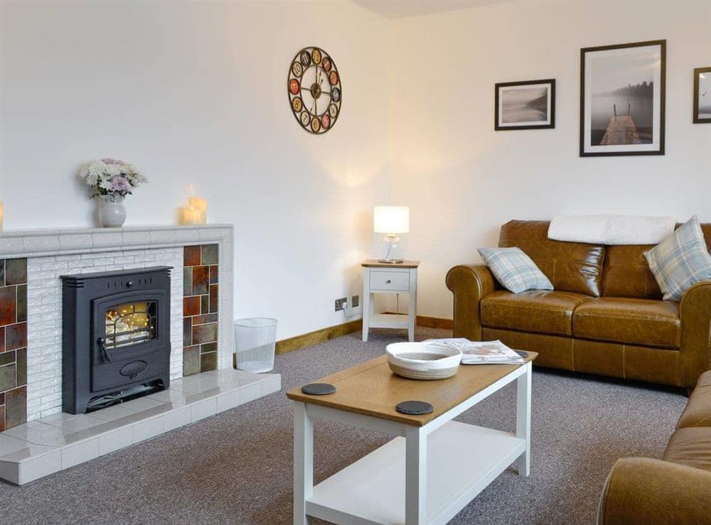 Living room at Ellesmere Cottage in Glenlivet, near Ballindalloch, Banffshire
