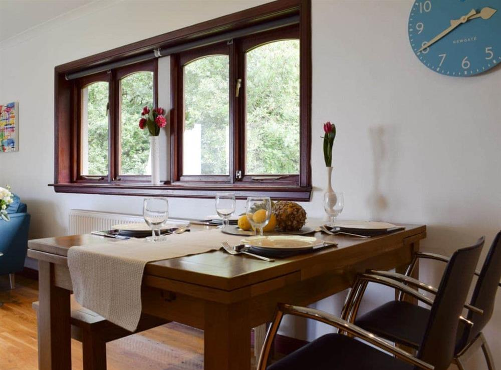 Charming dining area at Elm Cottage in Falkirk, Stirlingshire