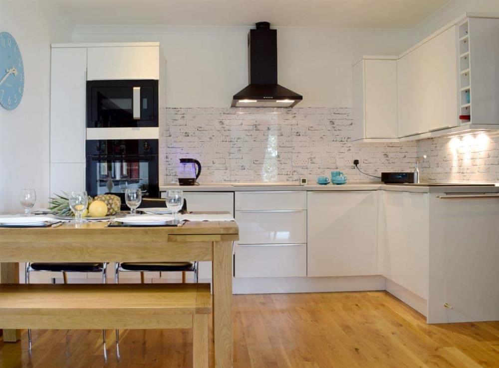 Stylish kitchen/ dining area at Elm Cottage in Falkirk, Stirlingshire