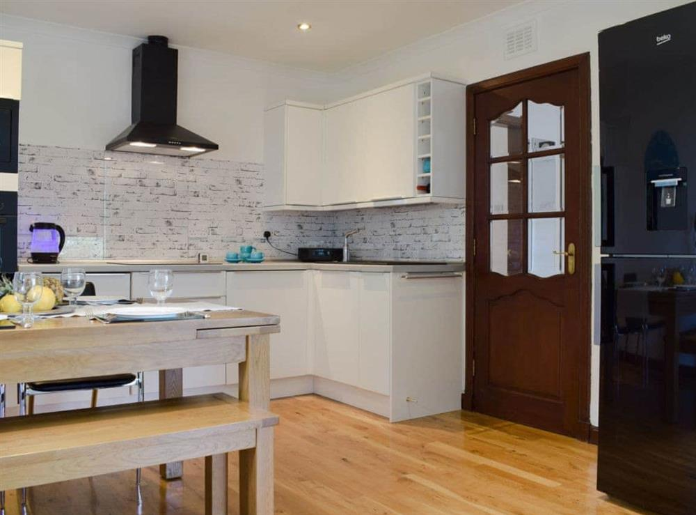 Well equipped kitchen area at Elm Cottage in Falkirk, Stirlingshire