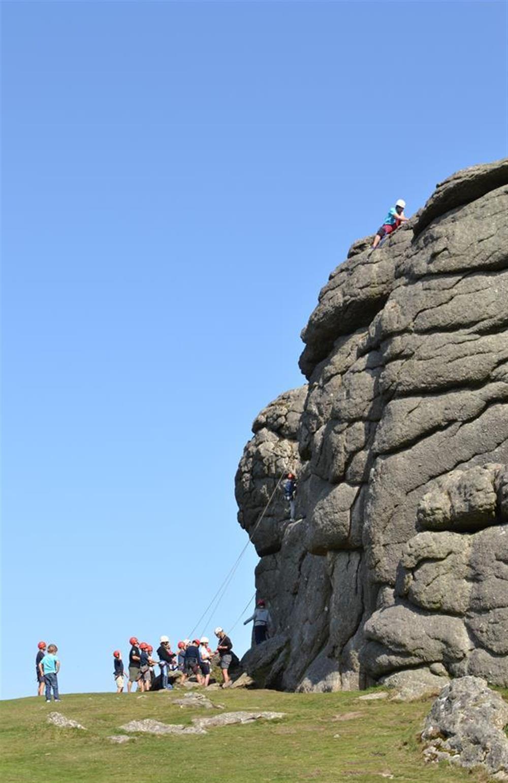 Dartmoor climbing at End O Moor, Shaugh Prior