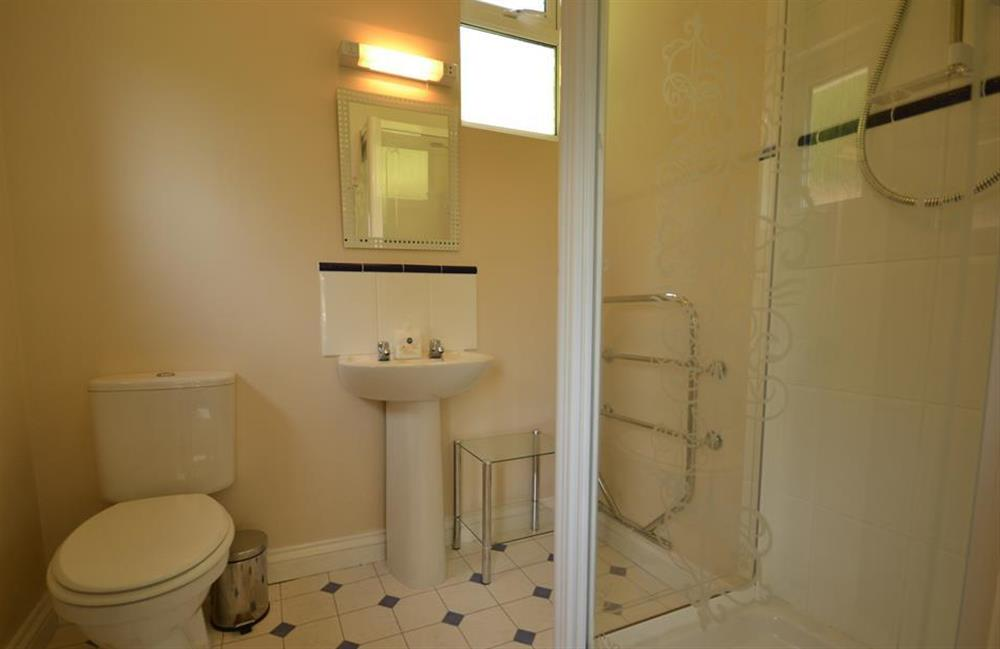 The shower room adjacent second double room at End O Moor, Shaugh Prior