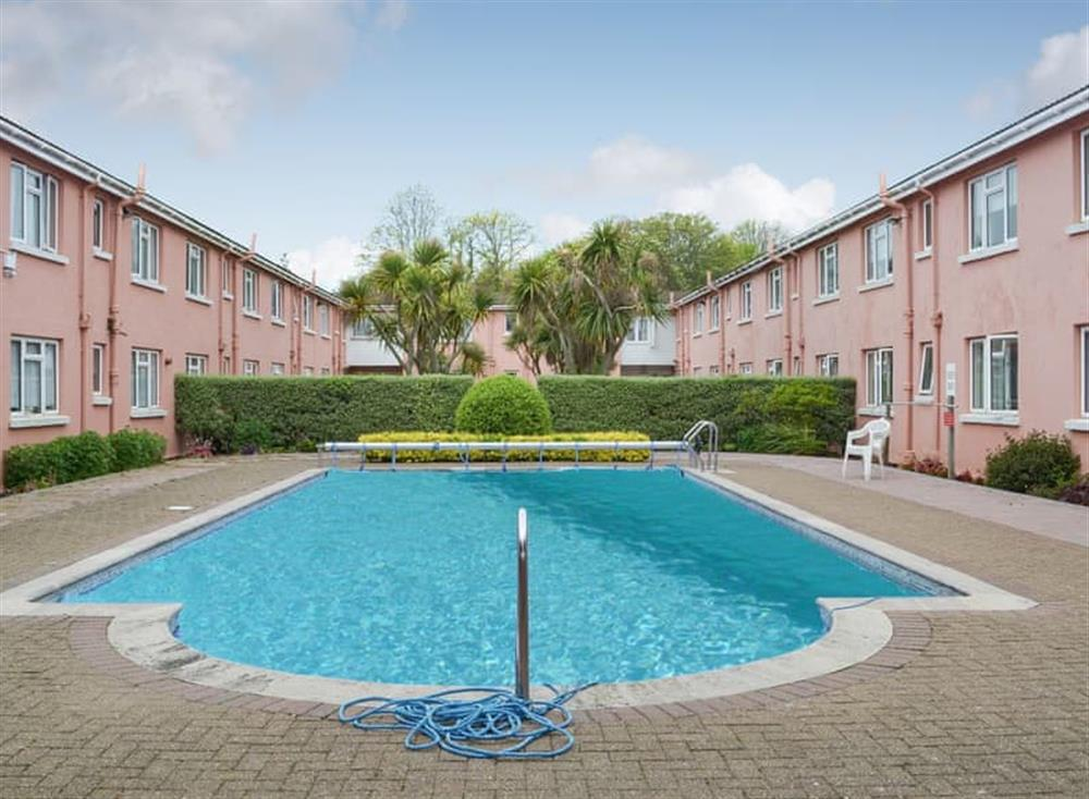Exterior with pool area