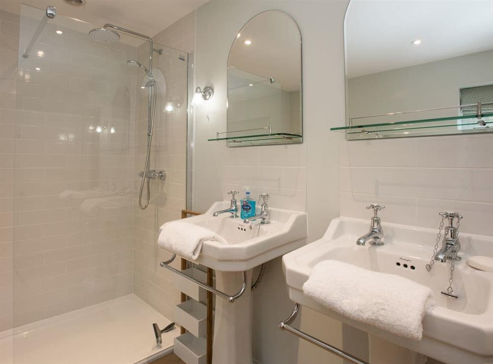 Bathroom with shower (photo 2) at Estate Cottage in Warstead, near North Walsham, Norfolk