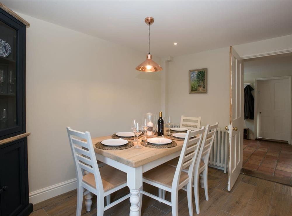Dining area at Estate Cottage in Warstead, near North Walsham, Norfolk