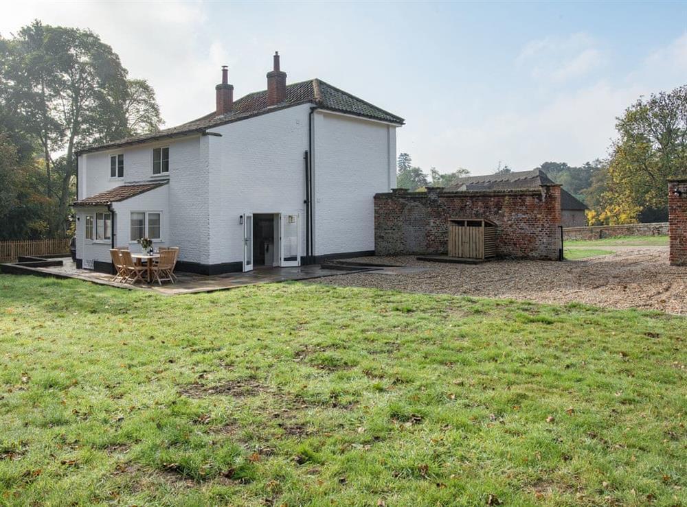 Garden at Estate Cottage in Warstead, near North Walsham, Norfolk