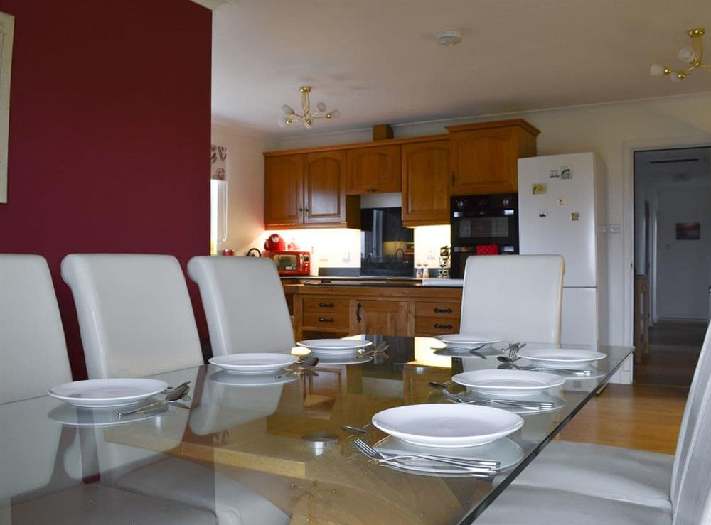 Dining area at Fair View in Lairg, Sutherland