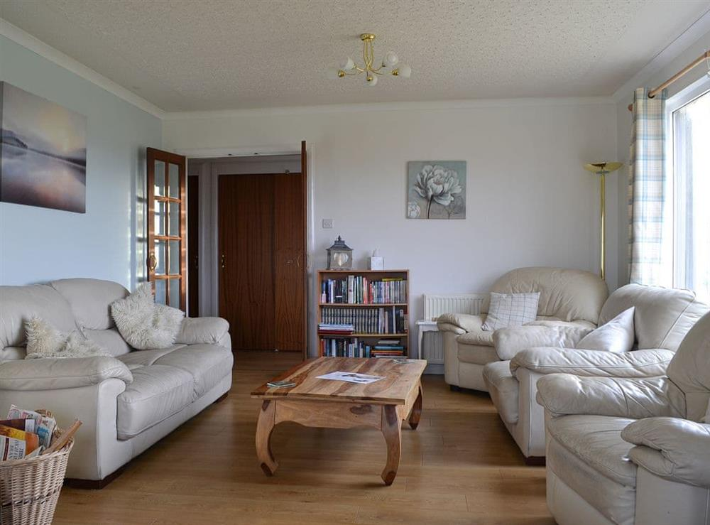 Living room at Fair View in Lairg, Sutherland