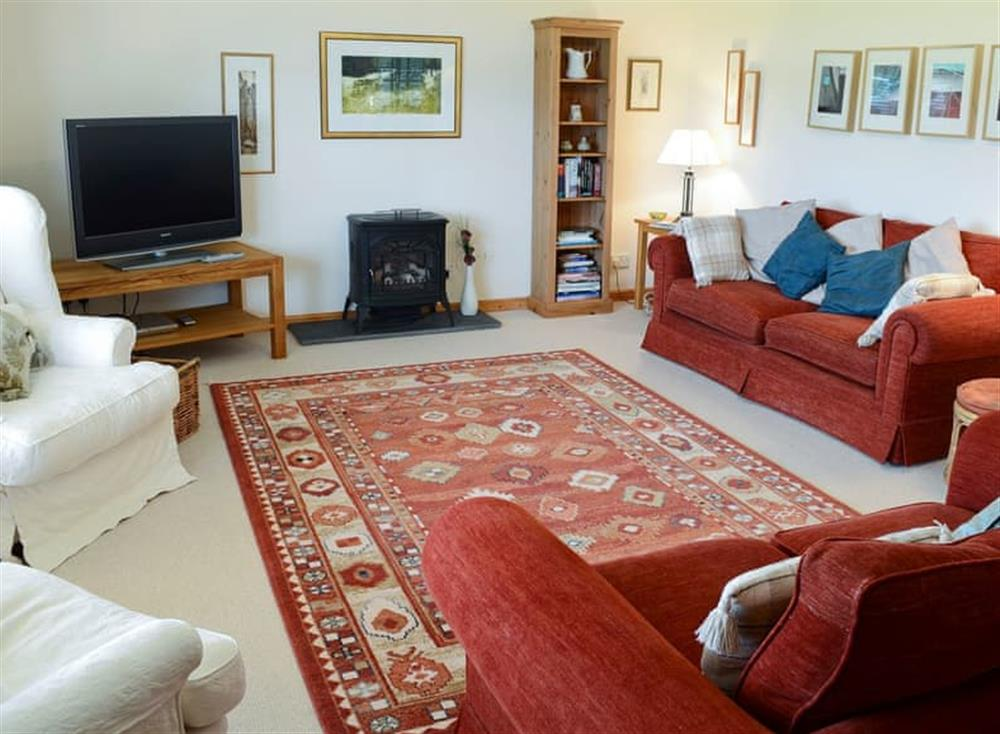 Light and airy living room at Fairfield in Ackergill, near Wick, Caithness