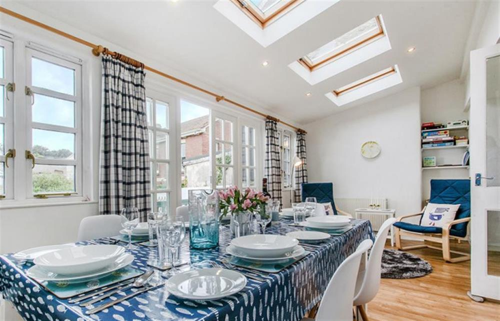Sunny dining area. at Fairholm, Stoke Fleming