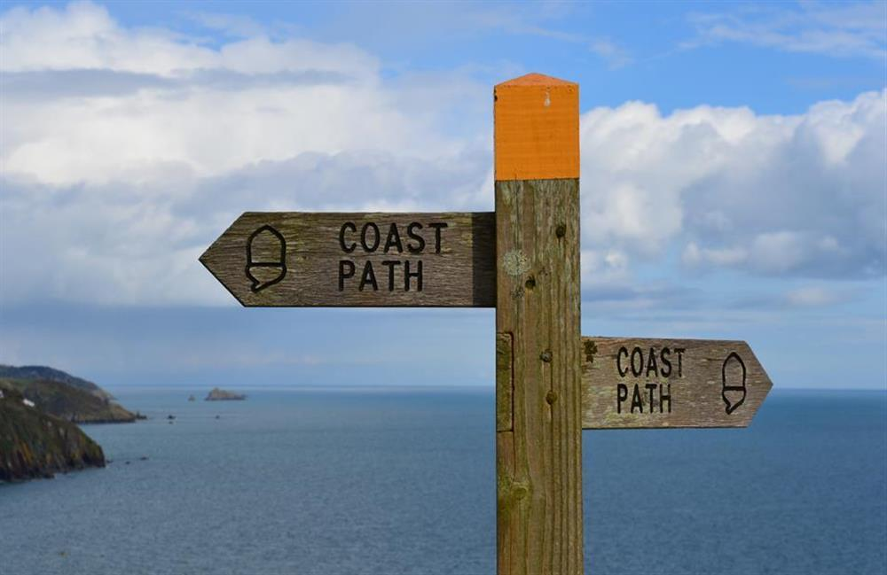 The South West coast path a five minute walk away at Fairwinds, Strete