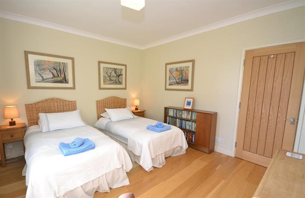 Another view of the first twin bedroom at Fairyfield, Stoke Fleming