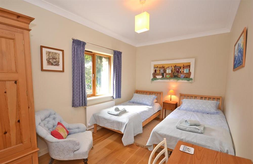 The rear twin bedroom at Fairyfield, Stoke Fleming