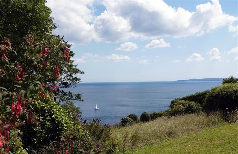 The sea views from the garden at Fairyfield, Stoke Fleming