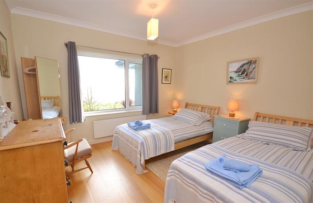 The second twin bedroom at Fairyfield, Stoke Fleming