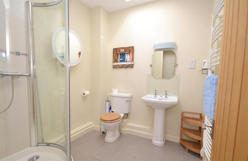 The separate shower room at Fairyfield, Stoke Fleming