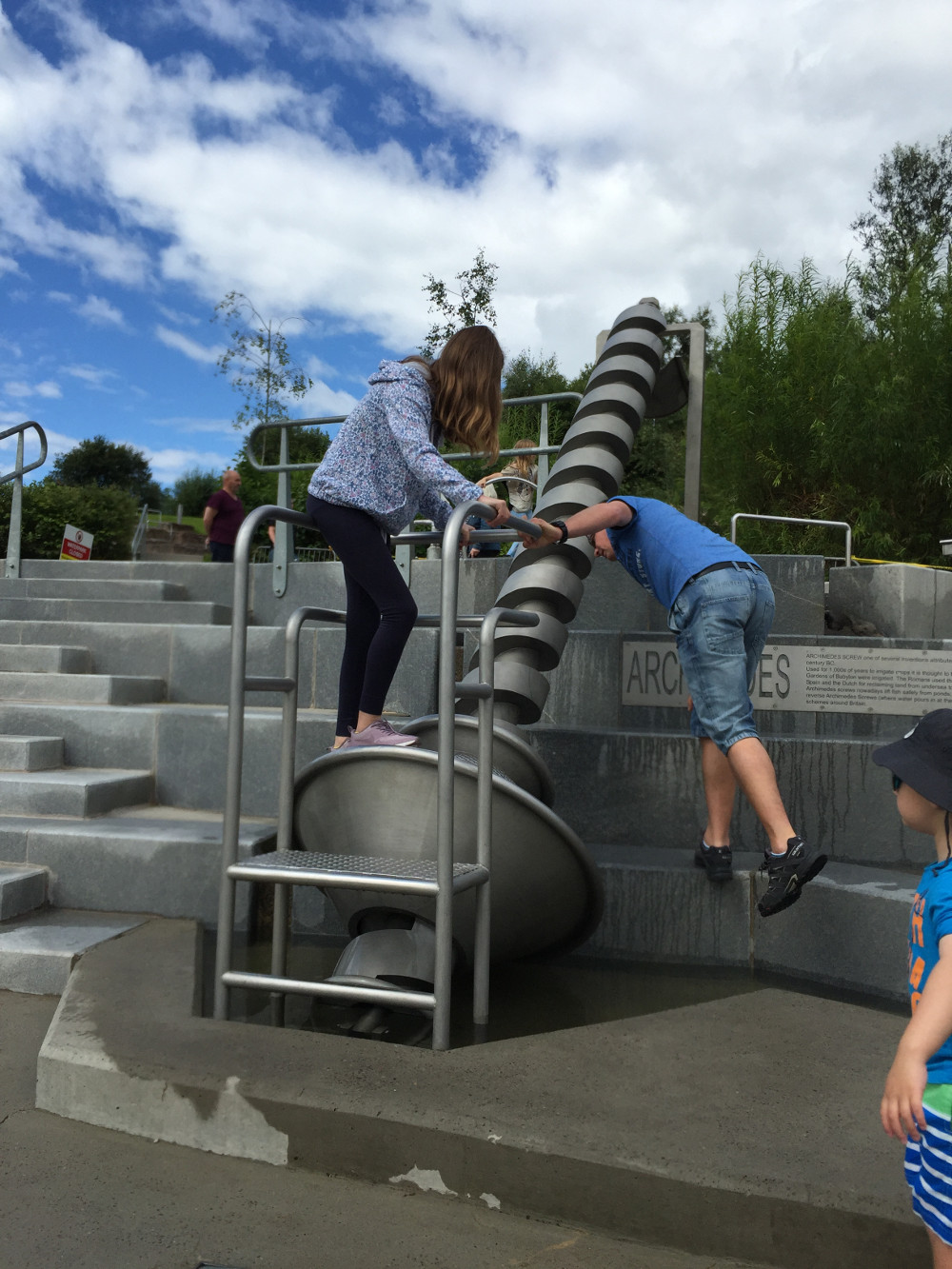 The Archimedes' screw is just one of the attractions at the Falkirk Wheel