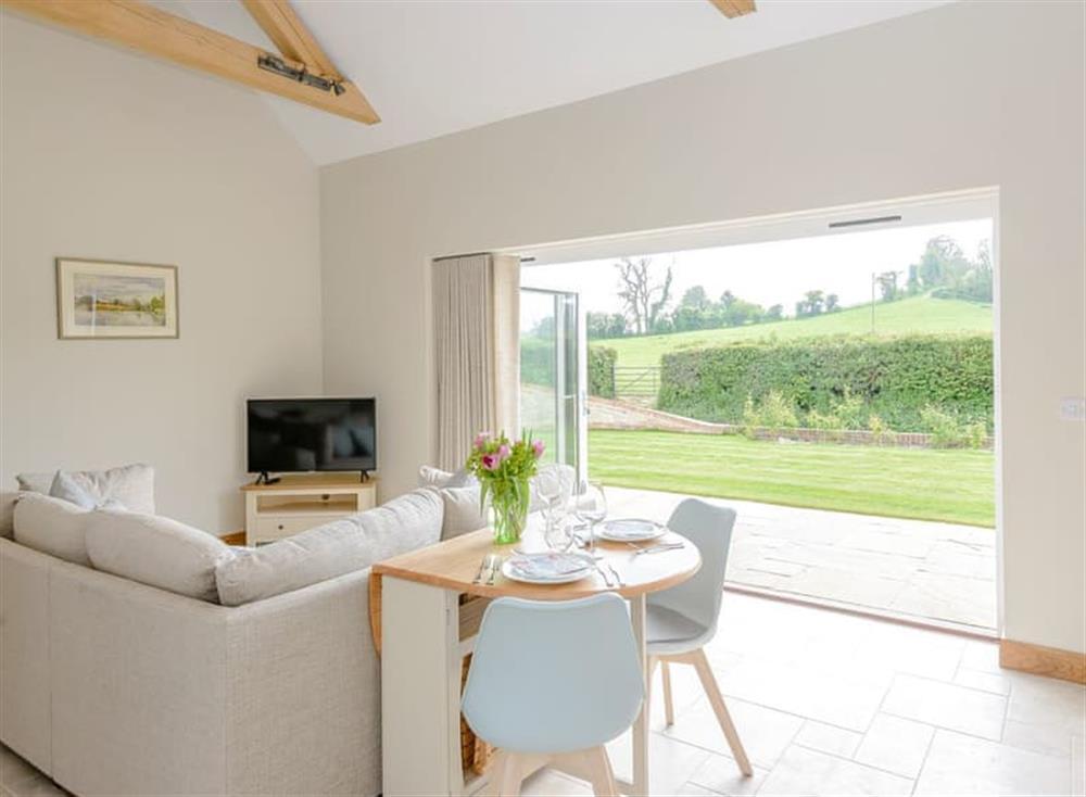 Living area at Farleigh Barn in Ramsdean, England