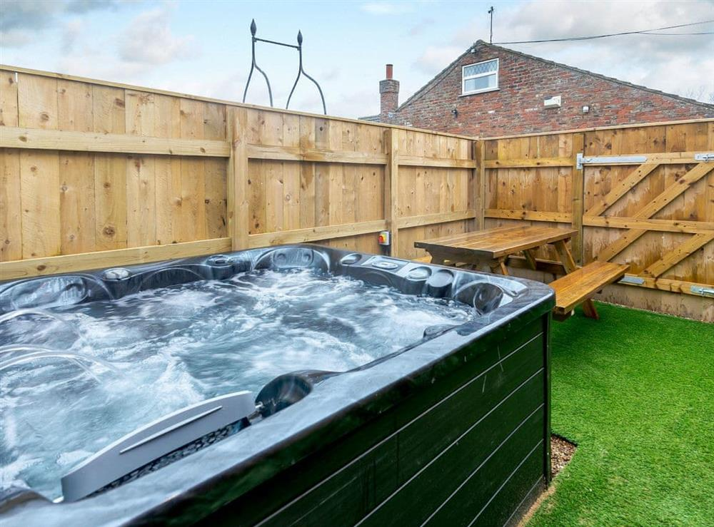 Hot tub at Farriers Lodge in Brandesburton, near Driffield, North Humberside