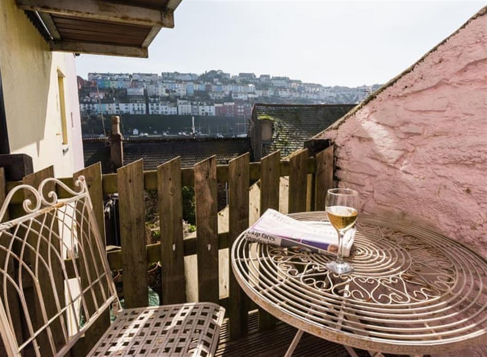 Balcony at Farthing Cottage in Brixham, South Devon