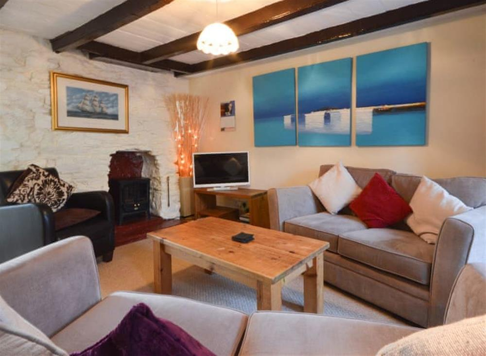 Living area at Farthing Cottage in Brixham, South Devon