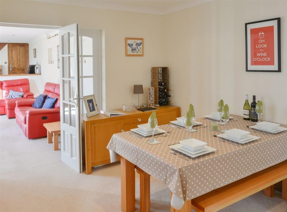 Dining room at Fern Villa in Oulton Broad, near Lowestoft, Suffolk