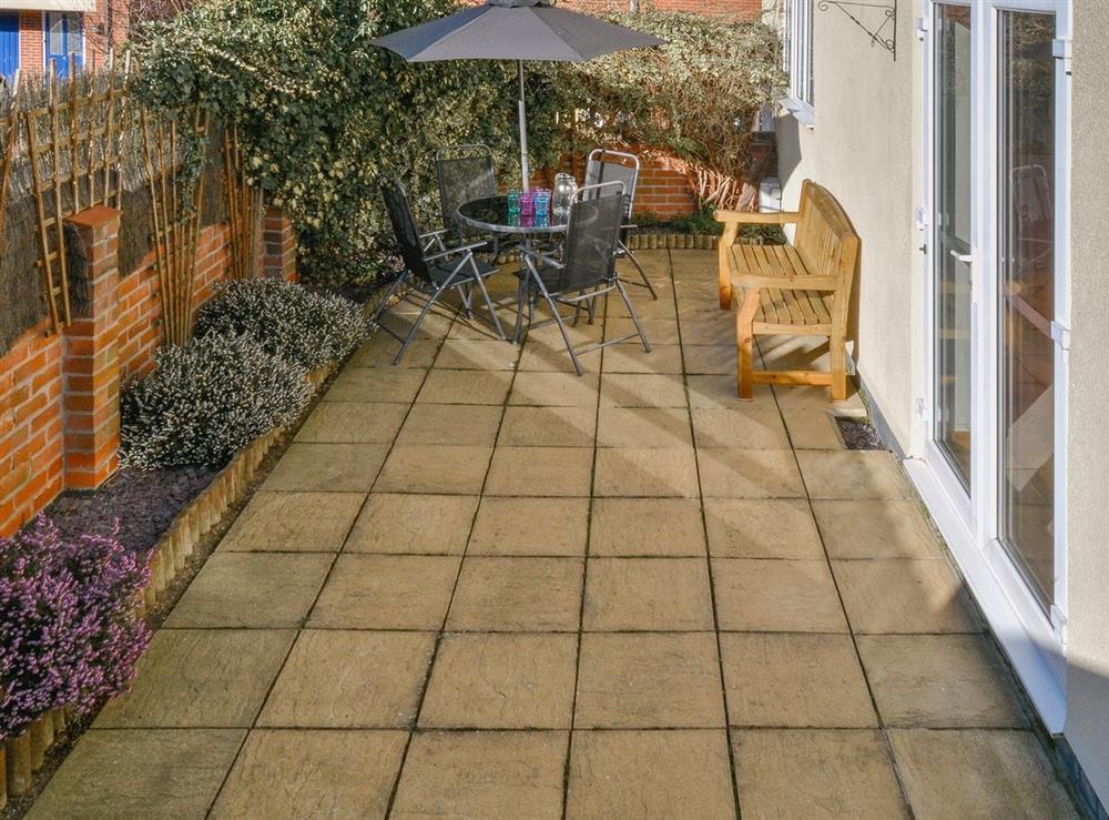 Patio at Fern Villa in Oulton Broad, near Lowestoft, Suffolk
